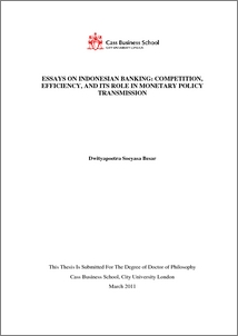 essays on n banking competition efficiency and its  pdf cover and table of contents