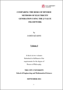 Electrical generation in phd power thesis