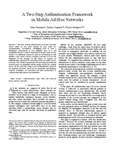 thesis report on ad hoc network