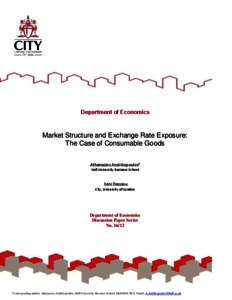 City Research Online - Market Structure and Exchange Rate
