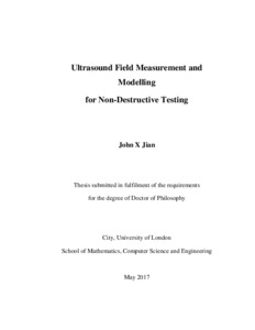 City Research Online - Ultrasound field measurement and