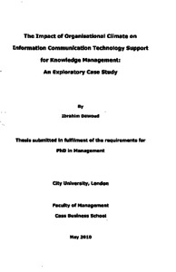 City Research Online - The impact of organisational climate on