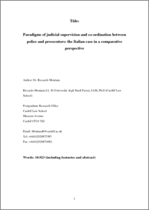 City Research Online - Paradigms of judicial supervision and