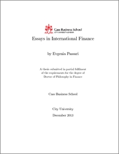 Essays in international finance