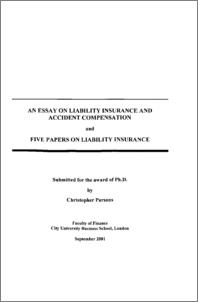 an essay on liability insurance and accident compensation and five  preview
