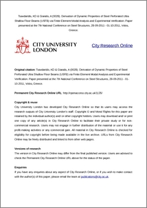 City Research Online - Derivation of dynamic properties of steel
